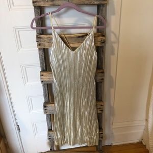 ONE CLOTHING Gold Fitted Strappy Dress